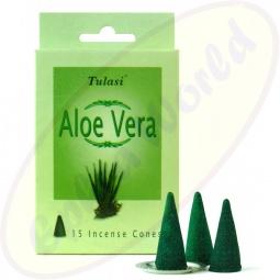 Tulasi Aloe Vera iindische Räucherkegel