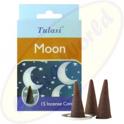 Tulasi Moon indische Räucherkegel
