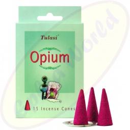 Tulasi Opium indische Räucherkegel - Räucherkerzen