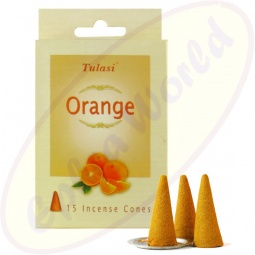 Tulasi Orange Räucherkegel