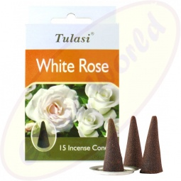 Tulasi White Rose Räucherkegel