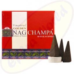 Vijayshree Golden Nag Champa indische Räucherkegel