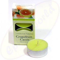 Pajoma Duft-Teelichte Grapefruit Cassis 2er Groß