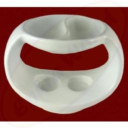 Duftlampe Yin Yang weiß Keramik 18 x 10 x 14cm