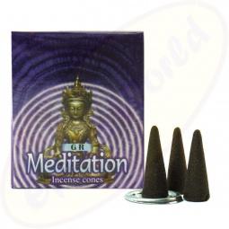 GR International Meditation indische Räucherkegel