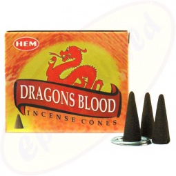 HEM Dragons Blood Red indische Räucherkegel
