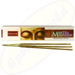 Nandita Mantra Meditation indische Premium Masala  Räucherstäbchen