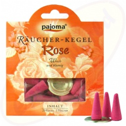 Pajoma Rose Räucherkegel