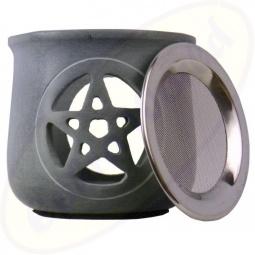 Räuchergefäß Pentagram Speckstein 8,5 x 9cm