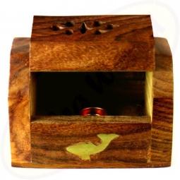 Räucherkegel Box Holz Motiv Delfin