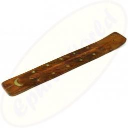 Räucherstäbchenhalter Holz Motiv Mond