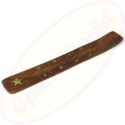 Räucherstäbchenhalter Holz Motiv Sterne