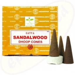 Satya Sandalwood indische Räucherkegel