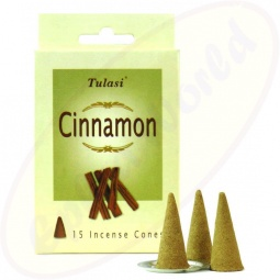 Tulasi Cinnamon indische Räucherkegel - Räucherkerzen