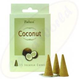 Tulasi Coconut indische Räucherkegel - Räucherkerzen