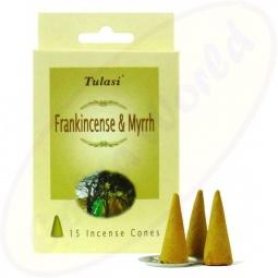 Tulasi Frankincense Myrrh indische Räucherkegel - Räucherkerzen