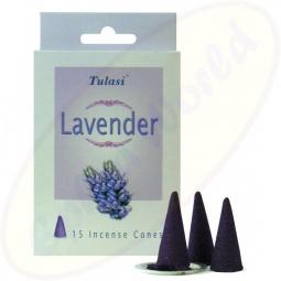 Tulasi Lavender indische Räucherkegel - Räucherkerzen