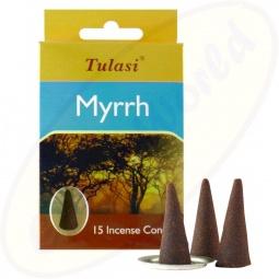 Tulasi Myrrh indische Räucherkegel