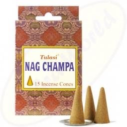 Tulasi Nag Champa indische Räucherkegel - Räucherkerzen