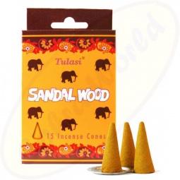 Tulasi Sandalwood indische Räucherkegel - Räucherkerzen