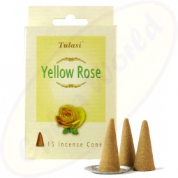 Tulasi Yellow Rose indische Räucherkegel