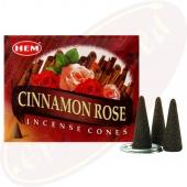 HEM Cinnamon Rose Räucherkegel