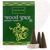 Nandita Wood Spice Premium Räucherkegel