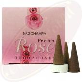 Satya Fresh Rose Räucherkegel