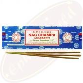 Satya Sai Baba Nag Champa Masala Räucherstäbchen 100g Blau LLP