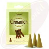 Tulasi Cinnamon (Zimt) Räucherkegel