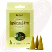 Tulasi Frankincense Myrrh Räucherkegel
