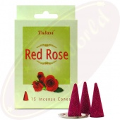 Tulasi Red Rose Räucherkegel