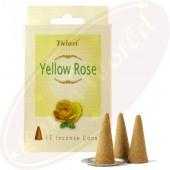 Tulasi Yellow Rose Räucherkegel