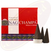 Vijayshree Golden Nag Champa Räucherkegel